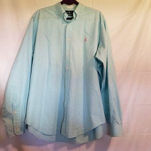 Ralph Lauren blue label dress shirt classic fit XL